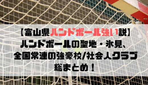 【富山県ハンドボール強い説】ハンドボールの聖地・氷見、全国常連の強豪校/社会人クラブ総まとめ!