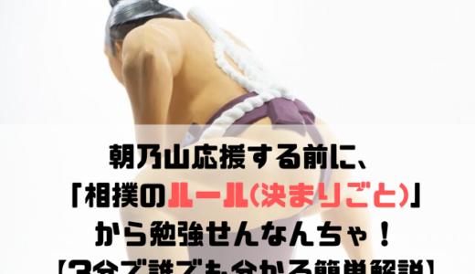 朝乃山応援する前に、「相撲のルール(決まりごと)」から勉強せんなんちゃ!【3分で誰でも分かる簡単解説】