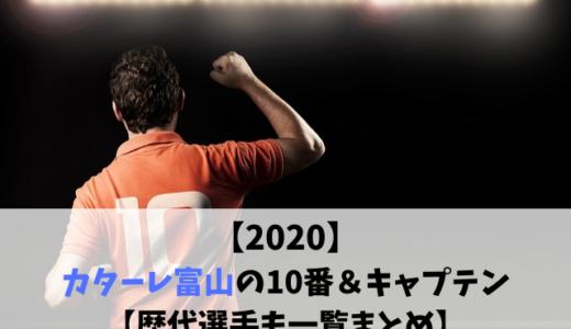 【2020】カターレ富山の10番&キャプテン【歴代選手も一覧まとめ】