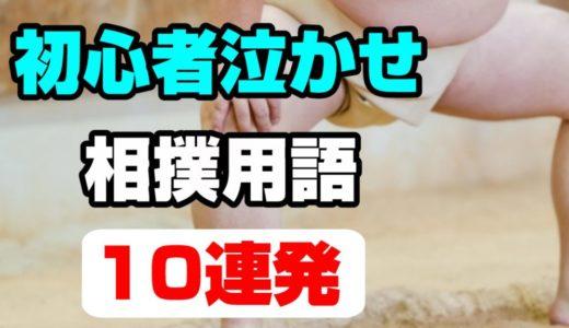 【朝乃山観る時】初心者泣かせの相撲用語・10連発